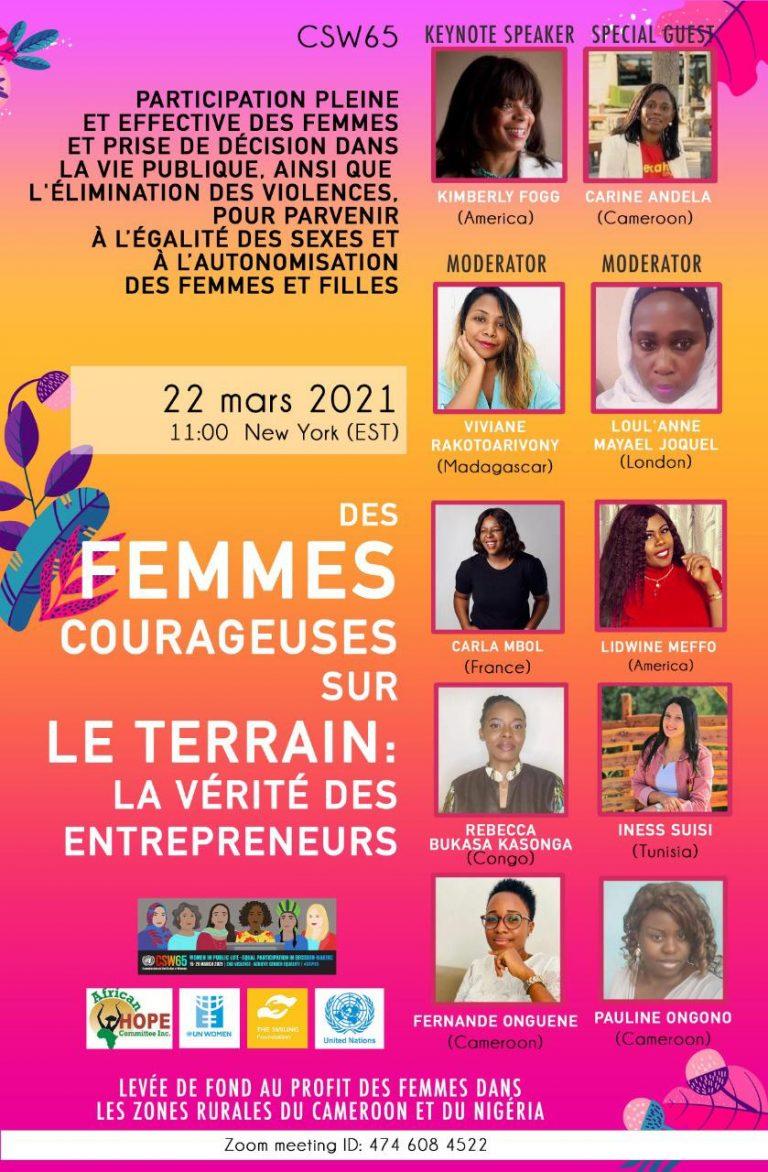 Des Femmes Courageuses sur Le Terrain: La Verite des Entrepreneurs