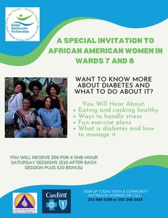 Invitation to participate in the program to women of 7th & 8th Wards